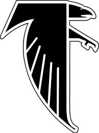 Atlanta Falcons Primary Logo (1990) - A black falcon, outlined in ...