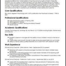 Cv Primary School Teacher Primary School Teacher Cv Sample 28396588778 Format For Teacher