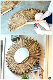 diy mirror frame.  Mirror Mirror Frame Diy Decor Stained Wood Shim Starburst  Instruction Decorative Ideas And   Throughout Diy Mirror Frame