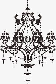 chandelier lovely cartoon vector png and vector