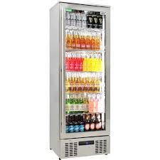 rhino glass door fridge full with plenty of storage options