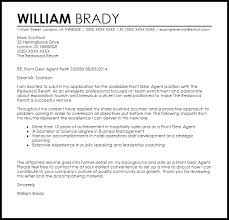 Front Desk Cover Letter Example