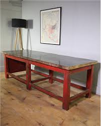 industrial antique furniture. Industrial Red Table Antique Furniture