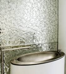 shard mirror backsplash