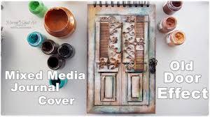 diy old door effect journal book cover tutorial craft hack by maremi s small art