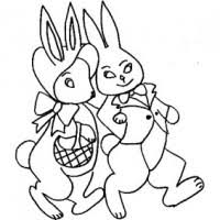 Conigli Pasquali Da Colorare Cose Per Crescere