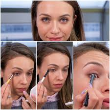 easy smokey eye makeup in brown and