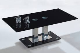 table modern black glass coffee style large pics with cool storage