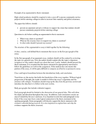 An Example Of A Thesis Statement In An Essay Resume Cv Cover