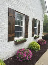 diy exterior shutters ideas. awesome shutters custom board and batten shutter farmhouse wood rustic stained exterior diy ideas i