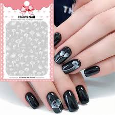 Types Of Nail Designs Us 0 64 62 Off Floral Type Nails Art Manicure Back Glue Decal Decorations Design Nail Sticker For Nails Tips Beauty Hanyi230 In Stickers Decals
