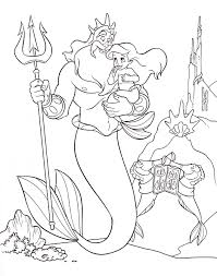 Small Picture Coloring Pages Of Little Mermaid Characters Coloring Pages