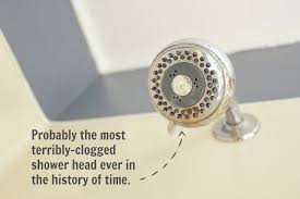 how to clean descale and unclog your shower head naturally , bathroom  ideas, cleaning tips