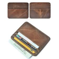 Does not apply Men\u0027s Genuine Leather Thin Wallet ID Money Credit Card Slim Holder