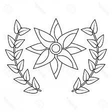 Photostock Vector Flower Wreath Floral Decoration Ornament Vector