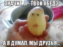 Картинки по запросу картошка демотиватор