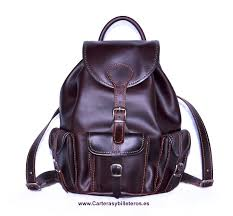 cow leather backpack big