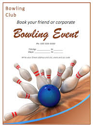 Bowling Event Flyer Bowling Match Flyer Template Bowling Invitations Free