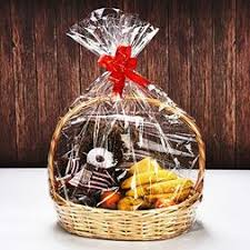 clear basket bags cellophane