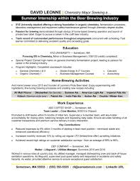 Internship Resume Sample Monster Com With No Exper Sevte