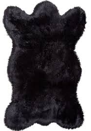 bear fur rug faux