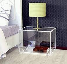 acrylic bedside table.  Acrylic Acrylic Large Cabinet Nightstand Lucite Bedside Tables Clear On Bedside Table P