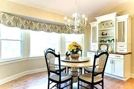 bay window valance ideas kitchen dazzling in dining room diy