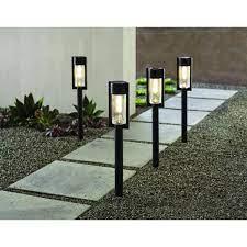 hampton bay solar black led 15 lumens