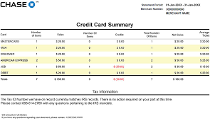 Credit Card Processing Comparison Chart How To Read Your Statement