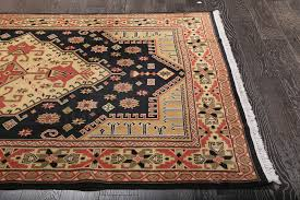 persian tribal black hand knotted wool rug 36258 luxury hand knotted rugs uk