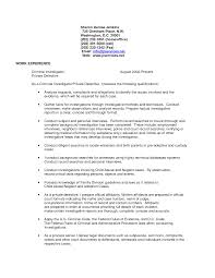 Beautiful Criminal Investigator Resume Bullets Gift Resume Ideas