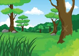 jungle background vector. Perfect Vector Vector Cartoon Illustration Of Jungle Background  Stock Colourbox In Jungle Background