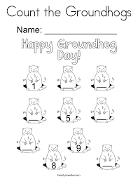 Small Picture Groundhog Day Coloring Pages Twisty Noodle