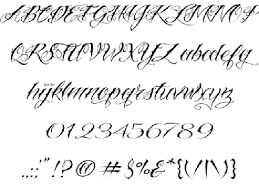 sightly hand lettering tattoo fonts script alphabet