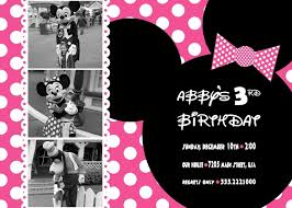 Minnie Mouse Blank Invitation Template Tips Decorations And Invitations For Your Birthday With Minnie