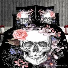 gallery of lightweight skull bedding red flame design by inkandrags cool pink and black fresh 16