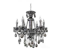 6 light mirrored crystal candelabra chandelier