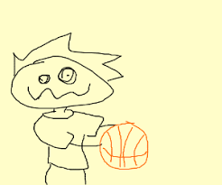 Basketball Drawing Pictures Derpy Kid Holding A Basketball Drawing By Jesterbwoooy Drawception