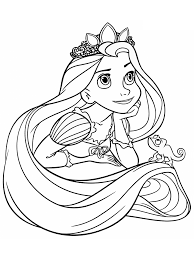 bé tập tô màu công chúa tóc mây - Cúng Đầy Tháng - Trang Tin Tức Online  Tổng Hợp