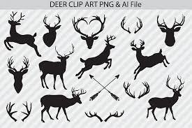 By downloading elk vector logo you agree with our terms of use. Deer Clip Art Vectors 44334 Illustrations Design Bundles Deer Vector Clip Art Silhouette Clip Art