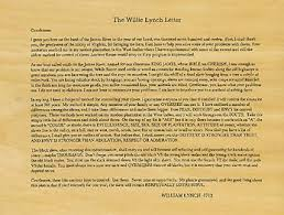 Willie Lynch letter The Making of a Slave