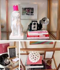 pink home office. Save Gold, Pink And Black Office Shelf Styling For The Home