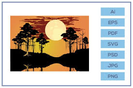 Animation package includes file formats in svg & lottie. Bayou Swamp Theme Landscape Design Graphic By Leamsign Creative Fabrica In 2020 Swamp Theme Illustration Design Illustration