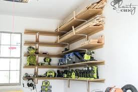 garage shelving diy idea to build super easy shelves garage wall organizer diy