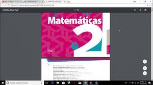 Examen de español de primero de secundaria correspondiente al primer tema: Libro De Matematicas De 2do Secundaria Contestado Youtube Libros De Matematicas Matematicas Libros