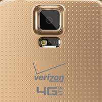 samsung galaxy s5 colors verizon. samsung galaxy s5 pictured in copper gold, wearing verizon brand colors l