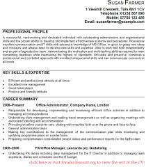 Administration Skills Examples Office Administrator Cv Example Gif