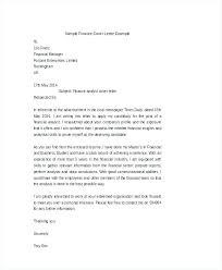 Cover Letter Samples Finance Images - Letter Format Formal Example