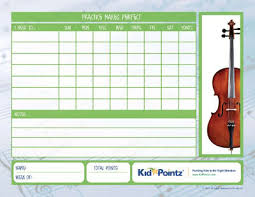 Kids Music Practice Charts Weekly Schedule Kid Pointz