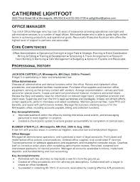 Sample Resume For Office Manager Office Administrator Sample Resume